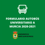 Inscripciones autobús universitario 2020-2021