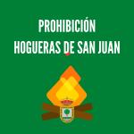 Prohibición celebración hogueras de San Juan