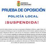 PRUEBA DE OPOSICIÓN POLICÍA LOCAL ¡SUSPENDIDA!