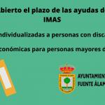 Abierto el plazo de las ayudas de IMAS