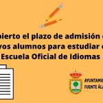 Abierto el plazo de admisión para estudiar en la Escuela Oficial de Idiomas
