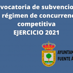 Convocatoria de Subvenciones en Régimen de Concurrencia Competitiva Ejercicio 2021