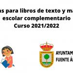 Ayudas para libros de texto y material escolar complementario Curso 2021/2022
