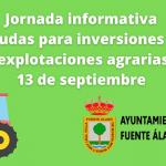 Jornada informativa 13 de septiembre ayudas inversiones agrarias